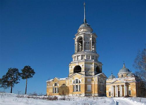 Борисоглебский собор с колокольней. Старица