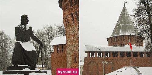 Памятник Федору Коню и башня Громовая