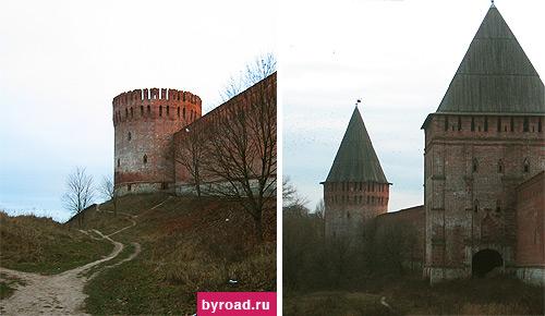 Крепостная стена в Смоленске